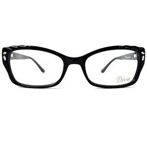 Diva Accessories - Diva 5415 Eyeglasses Black/Rhinestones